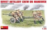 Soviet artillery crew on maneuver